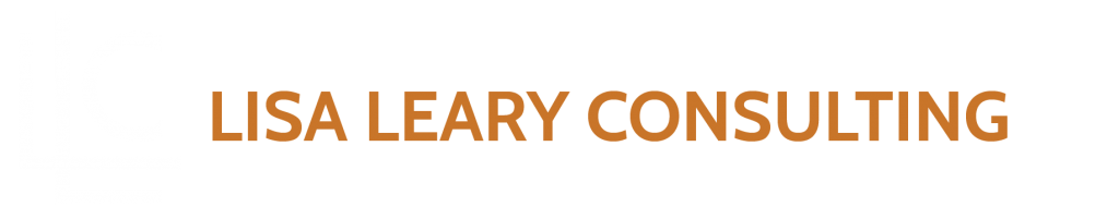 Lisa Leary Consulting logo reversed